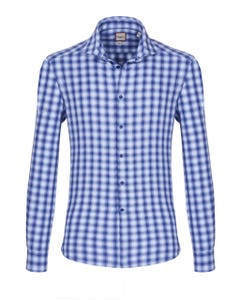 LONG-SLEEVED SHIRT IN FLANNEL HERRINGBONE BUTTON DOWN_0