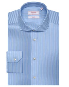 CLASSIC LONG-SLEEVED COTTON DOBBY SHIRT 103F - FRENCH_0