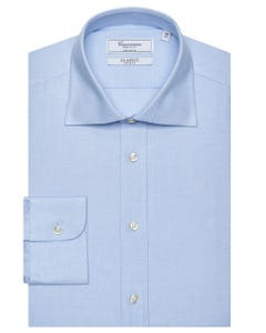 CLASSIC LONG-SLEEVED COTTON DOBBY SHIRT NEW FRENCH COLLAR_0