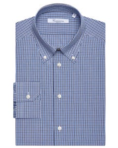 PATTERNED CHEQUERED SHIRT, BUTTON DOWN COLLAR, SLIM FIT 157B - BUTTON DOWN_0