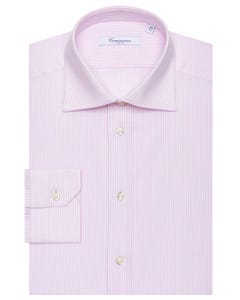 LONG-SLEEVED PINPOINT COTTON SHIRT NEW FRENCH COLLAR_0