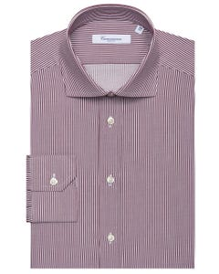 FANCY LONG-SLEEVED COTTON TWILL SHIRT 103F - FRENCH_0