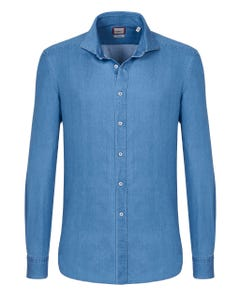 TRENDY DENIM SHIRT, BUTTON DOWN COLLAR, COMFORT FIT 147M - FRENCH_0