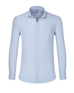 LONG-SLEEVED COTTON TWILL SHIRT 147M - FRENCH_0