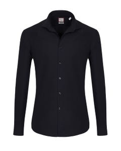 LONG-SLEEVED SHIRT IN COTTON DOBBY BUTTON DOWN_0