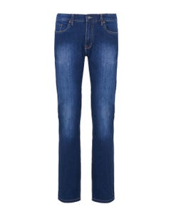 BLUE DENIM STRETCH TROUSERS WITH 5 POCKETS BLUE_0