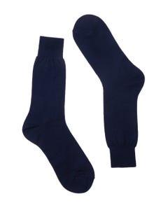 BLUE SHORT SOCKS, PLAIN FABRIC BLUE_0